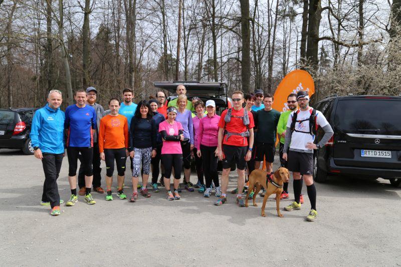 2. Running Exkursion am 2.April mit Sonnenschein und schönen Trails