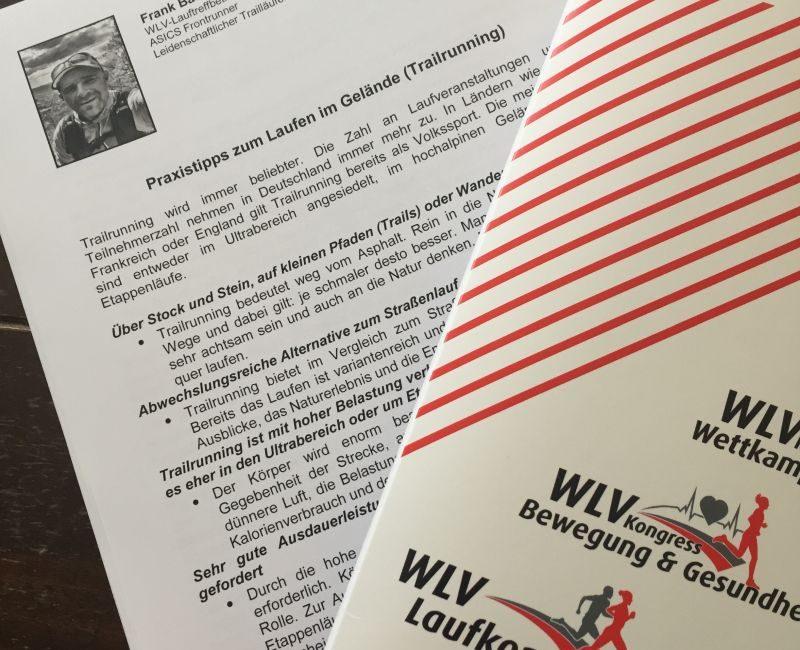 Vortrag über Trailrunning beim WLV Kongress Bewegung & Gesundheit